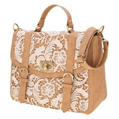 Tan and lace bag / A Wear
