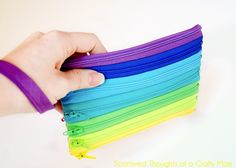Rainbow Zipper Pouch Tutorial - Scattered Thoughts of a Crafty Mom