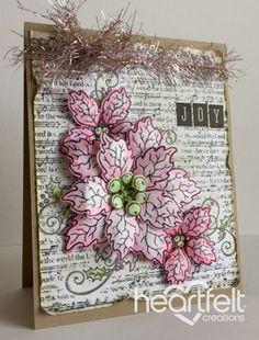 Heartfelt Creations | Joyful Pink Poinsettias