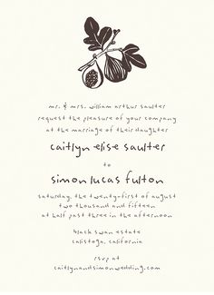 Figs Invitation card by Hello!Lucky on Postable.com