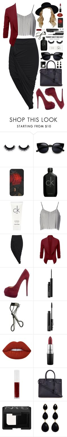 """it was."" by dyciana ❤ liked on Polyvore featuring Calvin Klein, Jovonna, Giuseppe Zanotti, MAC Cosmetics, Bobbi Brown Cosmetics, Lime Crime, Obsessive Compulsive Cosmetics, BOBBY, Yves Saint Laurent and NARS Cosmetics"