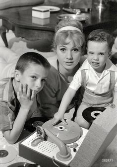 Shirley Jones with stepson David Cassidy and son, Shaun Cassidy, early 1960s.