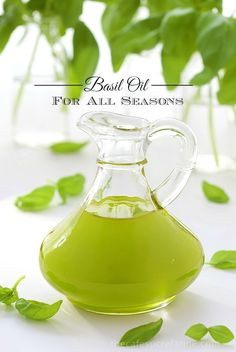 Basil Oil - I'm sure you've seen the little packs of basic at the grocery store. That and some oil is all it takes for make this fabulous condiment., that's perfect for a dipping sauce or a drizzle for steak, fish, poultry and a zillion other things!