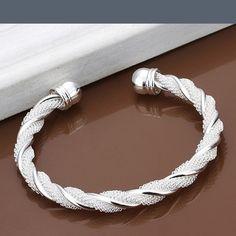 Silver plated twist cuff bracelet Silver plated Jewelry Bracelets