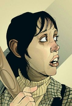 The Shining Art Print - Shelley Duvall as Wendy Torrance Halloween Horror Movies, Best Horror Movies, Iconic Movies, Horror Films, Scary Movies, Horror Art, Great Movies, Stephen King Novels, Stephen Kings