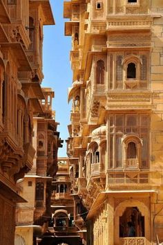 Photographic Print: Patwa Havelis, Renowned Private Mansion in Jaisalmer, Rajasthan, India, Asia by Godong : - Architecture India Architecture, Ancient Architecture, Beautiful Architecture, Beautiful Buildings, Architecture Design, Beautiful Places, Gothic Architecture, Futuristic Architecture, Historical Architecture