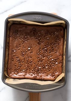 Fudgy Lentil Brownies. High Protein Brownies that dont taste beany! #Vegan #Glutenfree Recipe. Can be #Nutfree #veganricha   VeganRicha.com