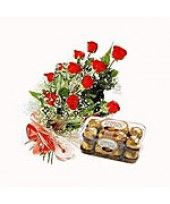 Chocolate Rosy Combo It's time to spice up your corporate event with a different touch. You can order Chocolate Rosy Combo from FlowerzNCakez, India. Ferrero Rocher Box, Valentine Day Gifts, Valentines, Best Valentine's Day Gifts, Gifts For Your Boyfriend, Wedding Anniversary Gifts, Most Romantic, Flower Delivery, Corporate Events