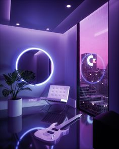 A collection of my render artworks over the course of February 2019 Aesthetic Space, Neon Aesthetic, Aesthetic Room Decor, Lit Wallpaper, Purple Wallpaper, Neon Room, Retro Futurism, Dream Rooms, Cool Rooms