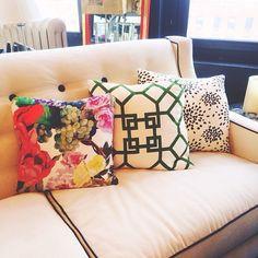 Society Social print pillows.