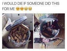 Makeup gift basket #ChrsitmasGift