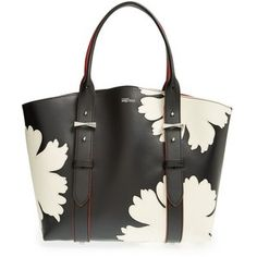 Alexander McQueen 'Small Legend' Floral Applique Leather Shopper