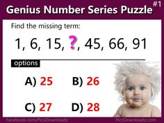 Number Series Puzzle Questions - 5 Sequence Brain teasers puzzles