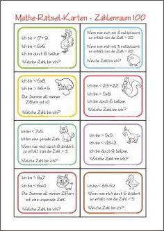 Zahlenrätsel-Karten - Zahl Gesucht - Rechnen im Zahlenraum 20 ...