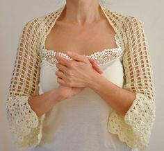 Ivory Shrug Bolero Bridal Shrug Wedding Bolero by reflectionsbyds, $70.00