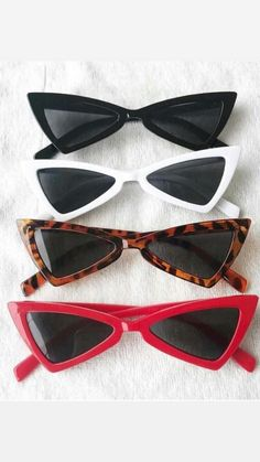 Trending Sunglasses, Sunglasses Women, Cat Eye Sunglasses, Retro Outfits, Vintage Outfits, Fashion Eye Glasses, Accesorios Casual, Cute Glasses, Aesthetic Vintage