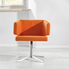 Schicker Stuhl in leuchtendem Orange - ein attraktiver Hingucker Modern, Sweet Home, Chair, Furniture, Orange, Home Decor, Ideas, Swivel Chair, Kitchen Dining Rooms