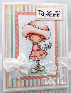 """Be My Sunshine - extras included Sellos Tiddly Inks """"Be My Sunshine"""""""