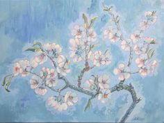 Almond Blossoms – oil on canvas – x The Quiet Miracle, Michael Krief Gallery, Solana Beach, California – 12 June to 3 July 2019 – Lizza Littlewort Solana Beach, Almond Blossom, Blossoms, Oil On Canvas, June, African, California, Gallery, Artist