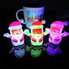 JUEJA Christmas Lamp Light Xmas Gift Mini Table Cute Santa Claus LED Decor Nightlight