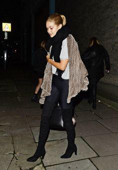 Gigi Hadid leaving Love Magazine photoshoot on December 1st, 2015.