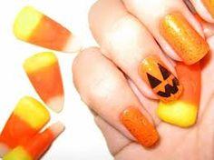 Decorados de uñas para Halloween con calabaza #manicura #esmalte #nailArt