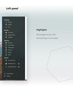 File Explorer - Fluent Design on Behance Web Layout, Layout Design, Fluent Design, Funny Products, Dashboard Ui, Flat Ui, Ui Inspiration, Ui Ux Design, User Interface
