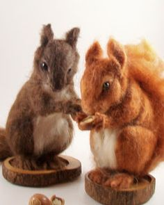 Needle Felted Art by Robin Joy Andreae: Squirrels!