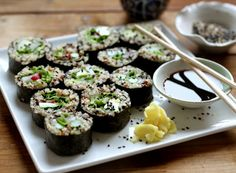Asian Inspired Lunch?! QUINOA SUSHI by Jessica Sepel #lornajane #myactiveyear