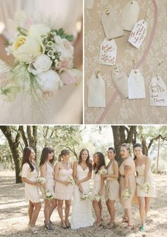 i really like the bridesmaids dress color & variety