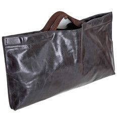 East Top Handle Bag Raw edge leather with reversed boot leather handle and 2 interior zipper pockets. Fits an iPad or most tablets. Tab closure in the middle. Leather Handle, Leather Purses, Leather Handbags, Leather Boots, Leather Bag, Accessoires Divers, Slouch Bags, Simple Bags, Best Bags