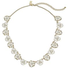 Kate Spade New York Beach House Bouquet Small Necklace, White (€69) ❤ liked on Polyvore featuring jewelry, necklaces, white, necklaces & pendants, white pendant, body chain jewelry, cross necklace i beach jewelry