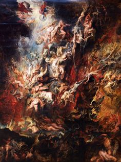 Peter Paul Rubens The Fall of the Damned, , Alte Pinakothek, Munich. Read more about the symbolism and interpretation of The Fall of the Damned by Peter Paul Rubens. Peter Paul Rubens, Rubens Paintings, Oil Paintings, Renaissance Kunst, Renaissance Paintings, Art Occidental, Baroque Art, Heaven And Hell, Classic Paintings