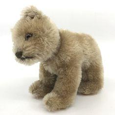 Steiff #Bear #Cub on all fours Mohair Plush 12cm 5in Swivel Head 1960s Vtg no ID #Steiff AllOccasion