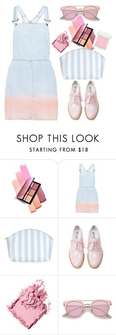"""Boohoo Bree Ombre Denim Pinafore Dress"" by thestyleartisan ❤ liked on Polyvore featuring NARS Cosmetics, Boohoo, Catherine & Jean, Oxford, Bobbi Brown Cosmetics and RMK"