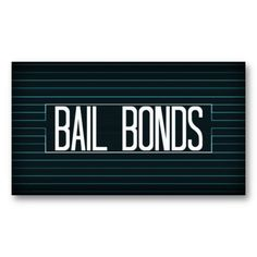 These elegant blue stripe business cards are perfect for any bail bondsman, they are sure to get noticed and stand out to anyone looking for bail bonds with their unique look.