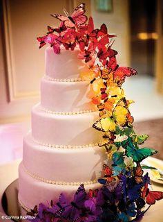Cake, butterflies.