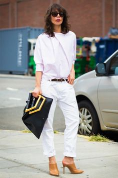 white jeans-boyfriend jeans-rolled jeans-nude mules-summer work outfit-summer fridays-office to out-night out-date night-
