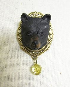 Bear Brooch - please never let me see you wear this.  Please.