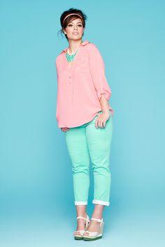 Coloured Plus Size Jeans