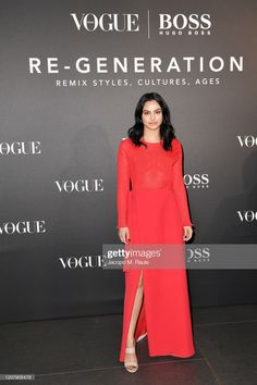 Camila Mendes arrives for the BOSS & VOGUE Italia Event at Hotel Viu Milan on February 2020 in Milan, Italy. Get premium, high resolution news photos at Getty Images Camilla Mendes, Riverdale Cast, Glamorous Dresses, Celebrity Look, Red Carpet Dresses, Wattpad, Vogue, Glamour, Night
