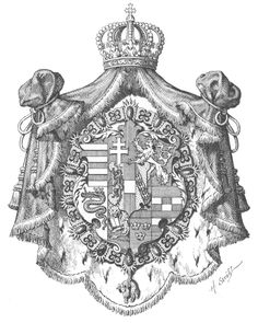 Arms of an Archduke of Austria and Knight of the Golden Fleece 1815-1896. Hugo Gerard Ströhl.