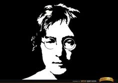 John Lennon face portrait background in black and white colors. It's a nice vector to celebrate one of the greatest actors of 20th century. High quality JPG included. Under Commons 4.0. Attribution License.