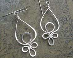 Celtic Loops Sterling Silver Wire Earrings by nicholasandfelice, $22.00