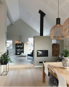 Likes, 120 Kommentare – Katrine Seim Andersen ( … - Haus Ideen Modern Fireplace, Home Fashion, Home Interior Design, Room Interior, Home Projects, Home And Living, Future House, Living Room Designs, Building A House