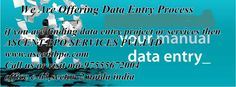 We Are Offering Non Voice Projects and Data Entry Service: Ascent bpo services pvt.ltd ensures a brilliant, f...