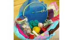 Build Fine Motor Skills with a Toddler Friendly Sewing Basket