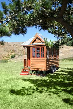 a tiny cabin on wheels