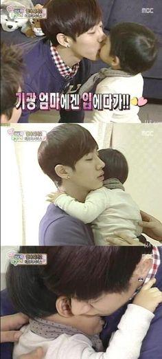 Gikwang babysitting