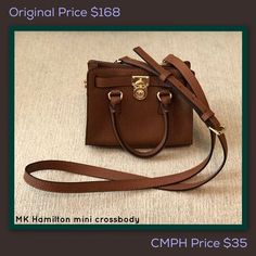 62d7ce240fe8 This Michael Kors Hamilton mini crossbody bag in cognac is only $35 at Clothes  Mentor Palm